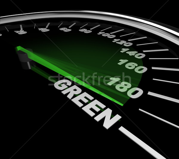 Green Car - Speedometer Stock photo © iqoncept