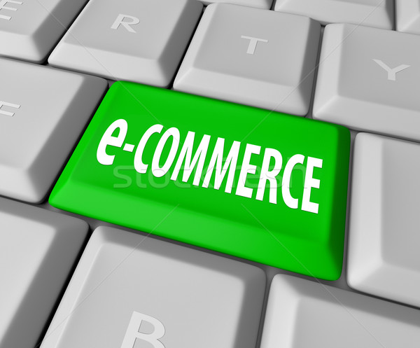 e-Commerce Key on Computer Keyboard Stock photo © iqoncept