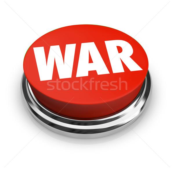 Krieg Wort rot Taste Kommunikation Kampf Stock foto © iqoncept