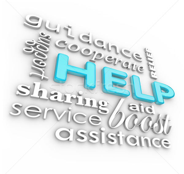 Help Words 3D Background Supportive Terms of Service Stock photo © iqoncept