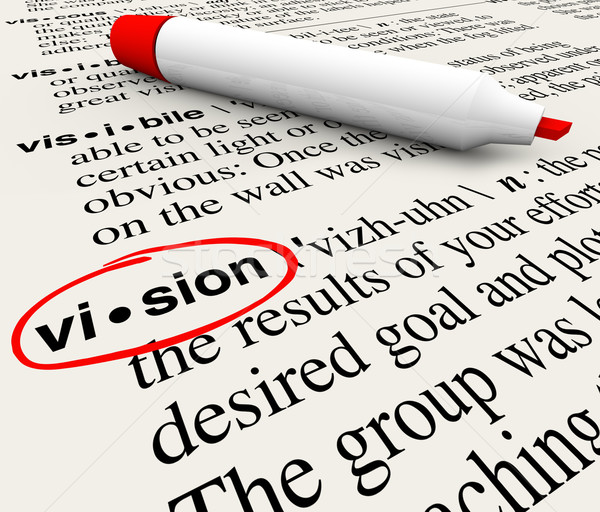 Vision Word Dictionary Definition Leadership Success Stock photo © iqoncept