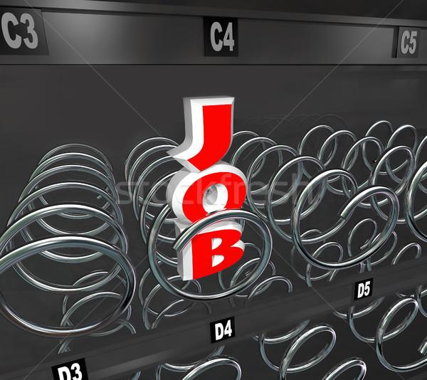 One Job Left in Employment Market Vending Machine Stock photo © iqoncept