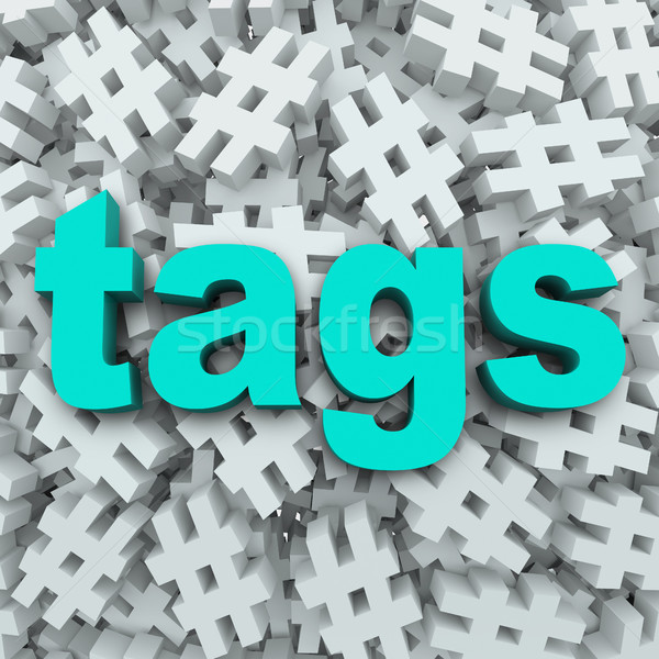 Tags Hashtag Symbol Message Update Background Stock photo © iqoncept