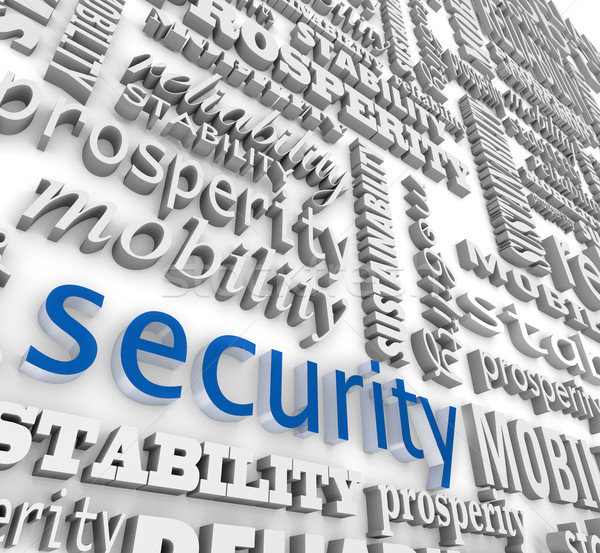 Financial Security 3D Word Background Prosperity Stability Stock photo © iqoncept