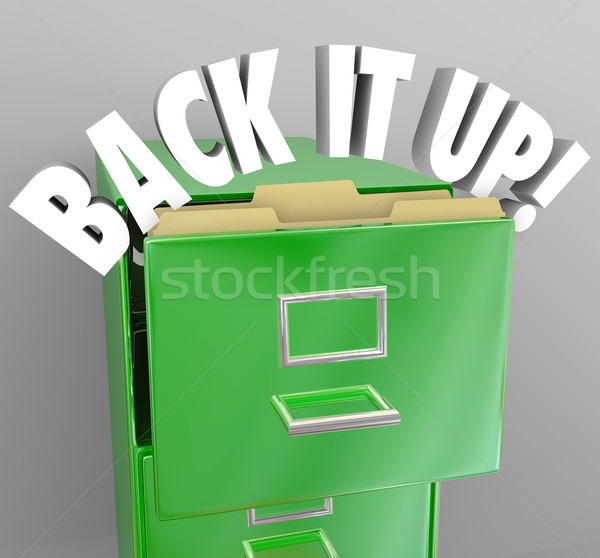 Stock photo: Back It Up Filing Cabinet Storage Important Documents