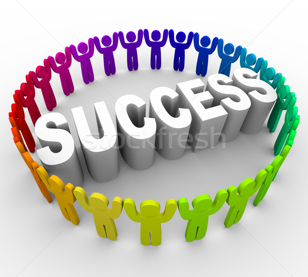 Succeed - People Surrounding Word Stock photo © iqoncept