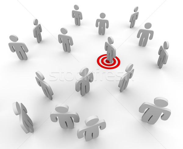 Targeted in a Crowd Stock photo © iqoncept
