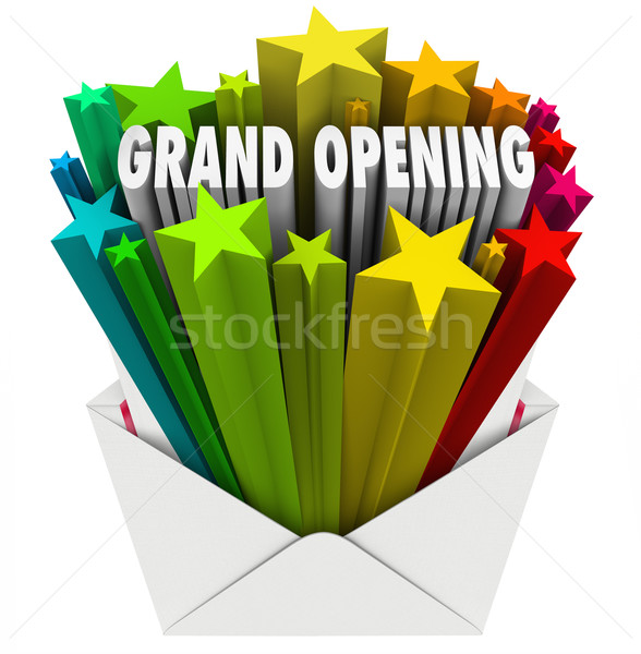 Grand Opening Announcement Letter Envelope Flyer Stock photo © iqoncept
