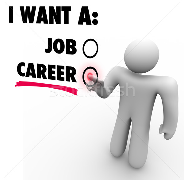 I Want a Job Vs Career Choose Work Opportunity Stock photo © iqoncept