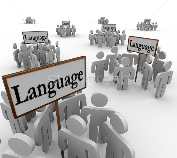 Language Word Signs Different Diverse Communities People Culture Stock photo © iqoncept