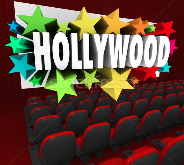 Hollywood Silver Screen Movie Theater Show Business Industry Stock photo © iqoncept