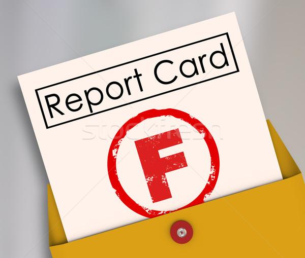Stock fotó: Pontszám · jelentés · kártya · szegény · előadás · kudarc