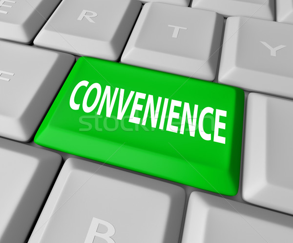Convenience Computer Keyboard Key Button Fast User Friendly Serv Stock photo © iqoncept
