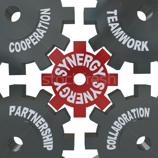 Synergy Gears - Teamwork in Action Stock photo © iqoncept