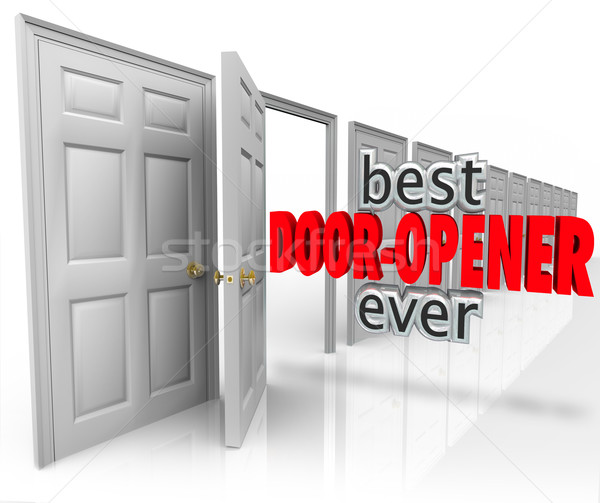 Best Door Opener Ever 3d Words Customer Sales Opening  Stock photo © iqoncept