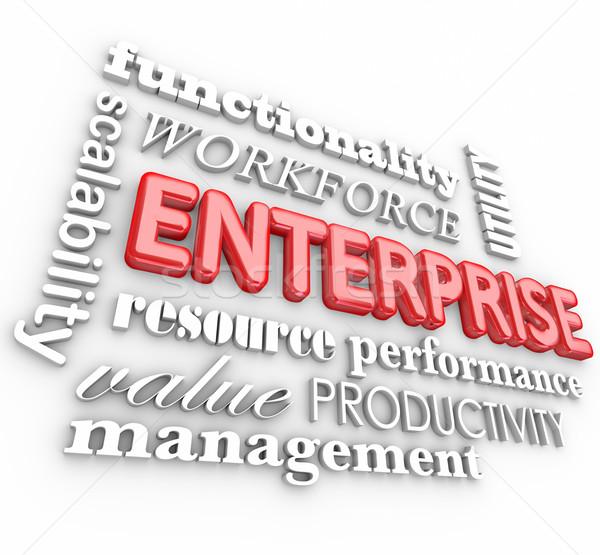 Enterprise 3d Words Business Company Workforce Organization Stock photo © iqoncept