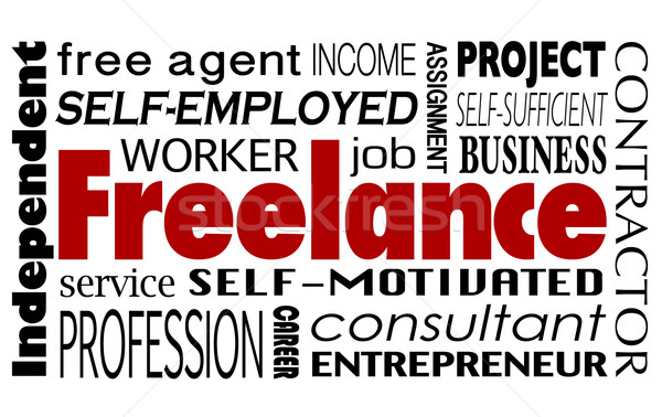 Freelance Contract Worker Employee Independent Consultant Word C Stock photo © iqoncept