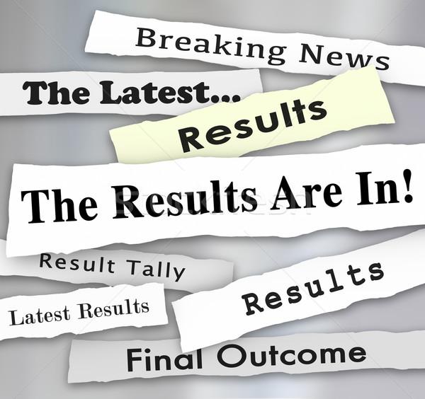 Résultats journal titres élection enquête Photo stock © iqoncept