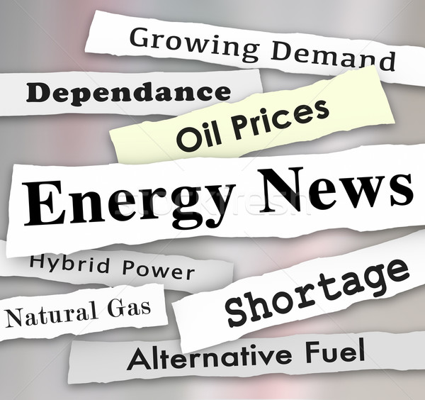 Energy News Media Headlines Urgent Power Announcement Updates Stock photo © iqoncept