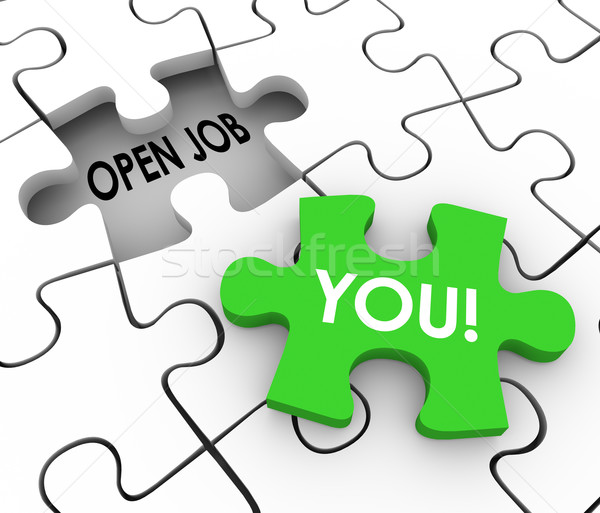 Open Job Position You Word Fill Puzzle Hole Stock photo © iqoncept