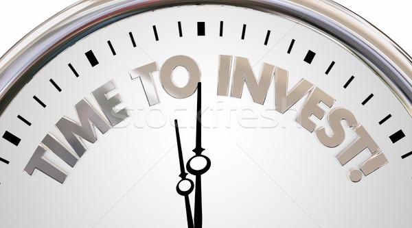 Zeit wachsen Reichtum Uhr 3D Stock foto © iqoncept