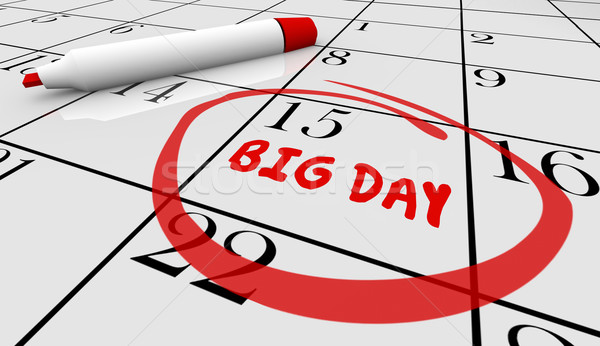 Big Important Day Date Reminder Circled Calendar 3d Illustration Stock photo © iqoncept