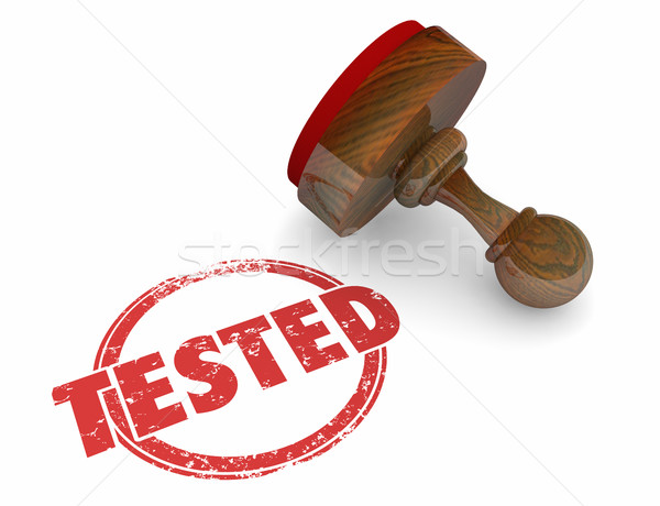 Tested Evaluation Stamp Inspected Passed Approved 3d Illustratio Stock photo © iqoncept