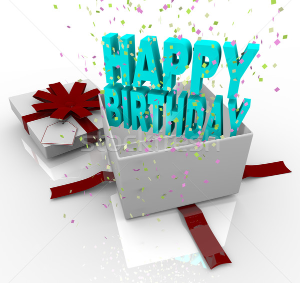 Present - Happy Birthday Gift Box stock photo © iqoncept ...