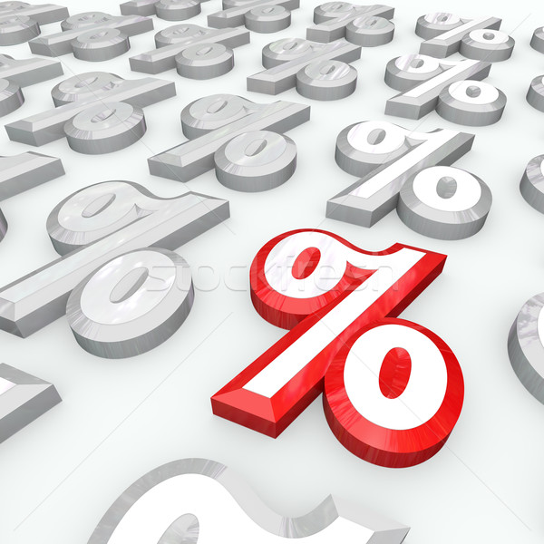 Percent Symbols - Best Percentage Growth or Interest Rate Stock photo © iqoncept
