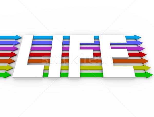 Vie mot coloré expérience diversité Photo stock © iqoncept