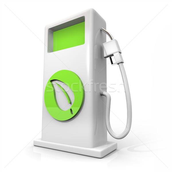 Alternativa combustible hoja verde blanco bombear Foto stock © iqoncept