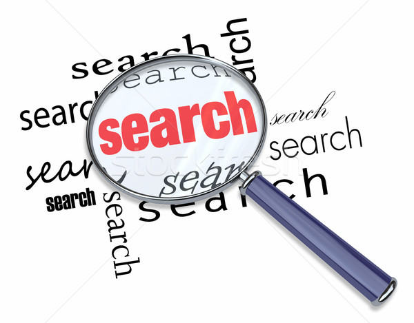 Search - Magnifying Glass on Words Stock photo © iqoncept
