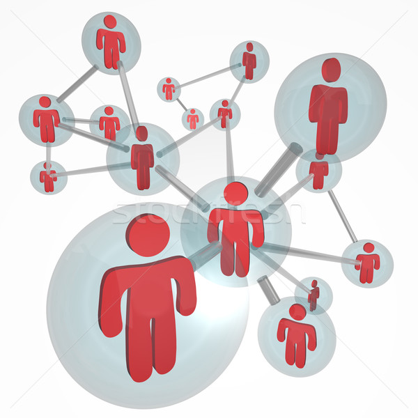 Social Network Molecule - Connections Stock photo © iqoncept