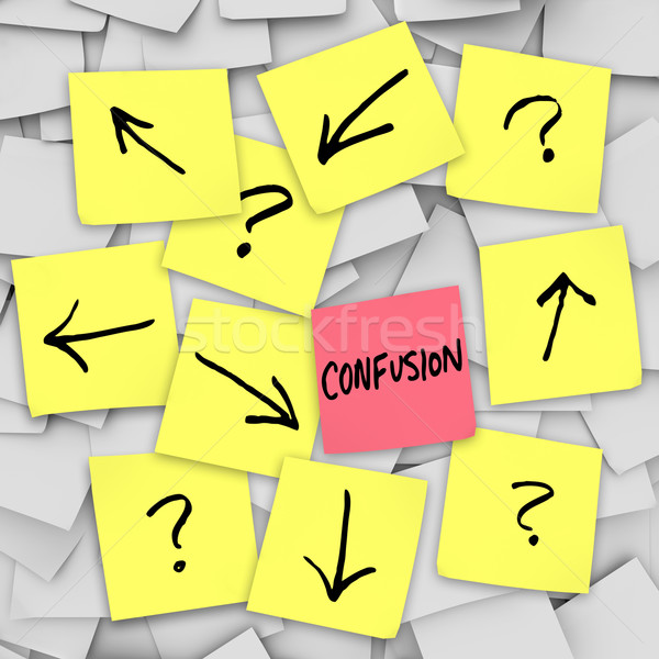 Stock photo: Confusion - Sticky Notes