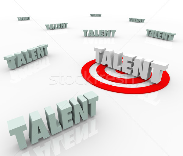 Talent Targeting Job Prospects Skilled Workers Recruiting Stock photo © iqoncept