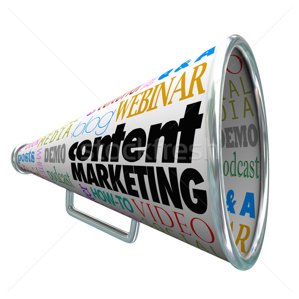Content Marketing Bullhorn Megaphone Audience Customer Outreach Stock photo © iqoncept
