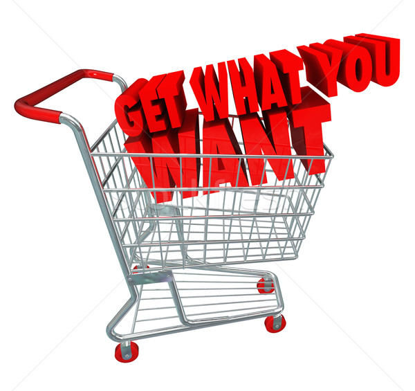Get What You Want Shopping Cart Sale Buy Merchandise Advertising Stock photo © iqoncept