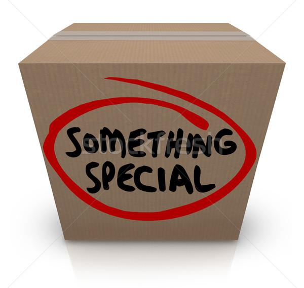 Valami különleges kartondoboz ajándék házhozszállítás egyedi Stock fotó © iqoncept