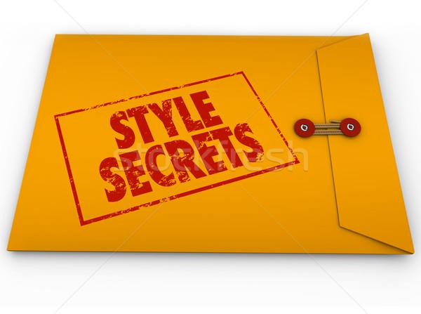 Style secrets jaune confidentiel enveloppe conseils Photo stock © iqoncept
