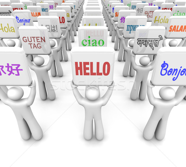 Hello Words Different Languages Greeting World Culture Diversity Stock photo © iqoncept
