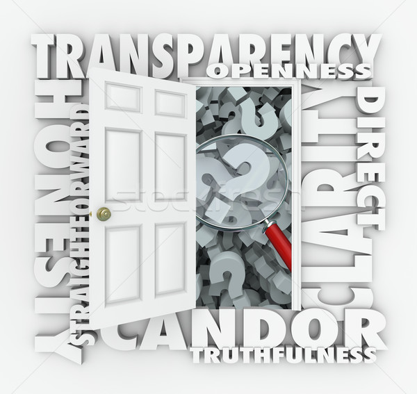 Transparency Door Openness Clarity Candor Straightforward Stock photo © iqoncept