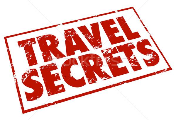 Voyage secrets tampon rouge encre conseil Photo stock © iqoncept