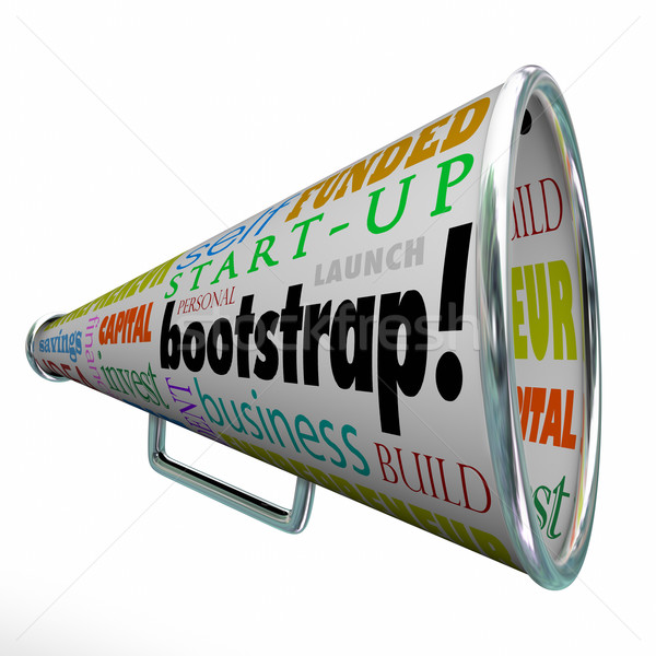 Bootstrap Bullhorn Megaphone Startup Launch Personal Funding Fin Stock photo © iqoncept