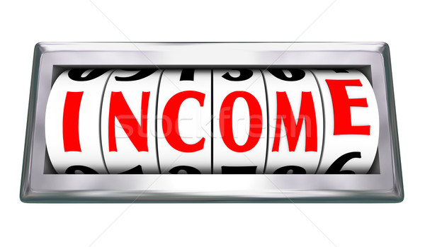 Income Wage Salary Earning Money Pay Work Odometer Stock photo © iqoncept