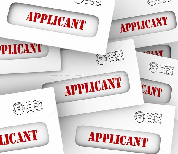 Job Applicant Envelopes Applying Job Position Hiring Stock photo © iqoncept