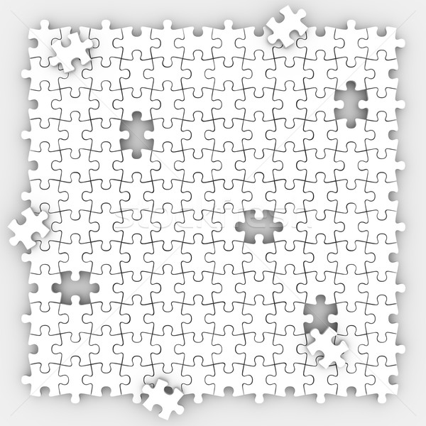 Puzzle Pieces Background Completing Picture Board Game Filling H Stock photo © iqoncept