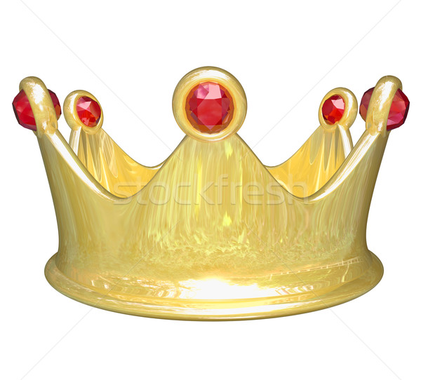 Gold Crown Top Tier Royal Treatment King Queen Prince Princess Stock photo © iqoncept