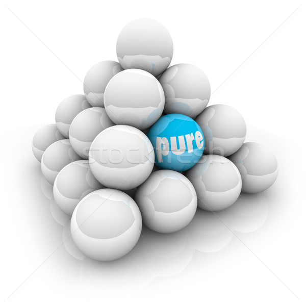 Pure Unique Different Special Word Ball Pyramid Stock photo © iqoncept