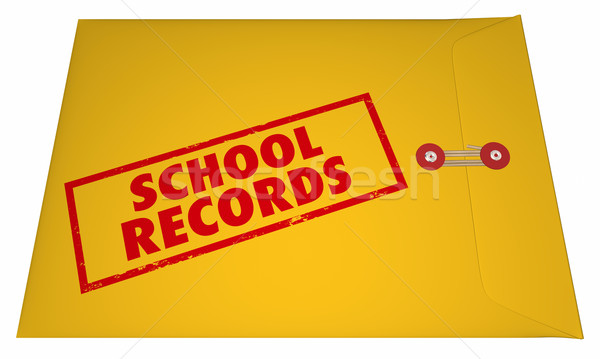 School Records Student File Transcripts Grades College Education Stock photo © iqoncept