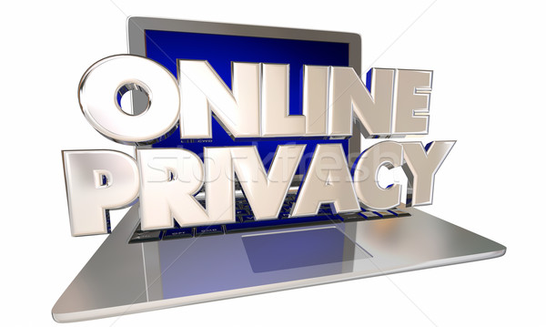Stock photo: Online Privacy Private Sensisitive Information Digital Account S